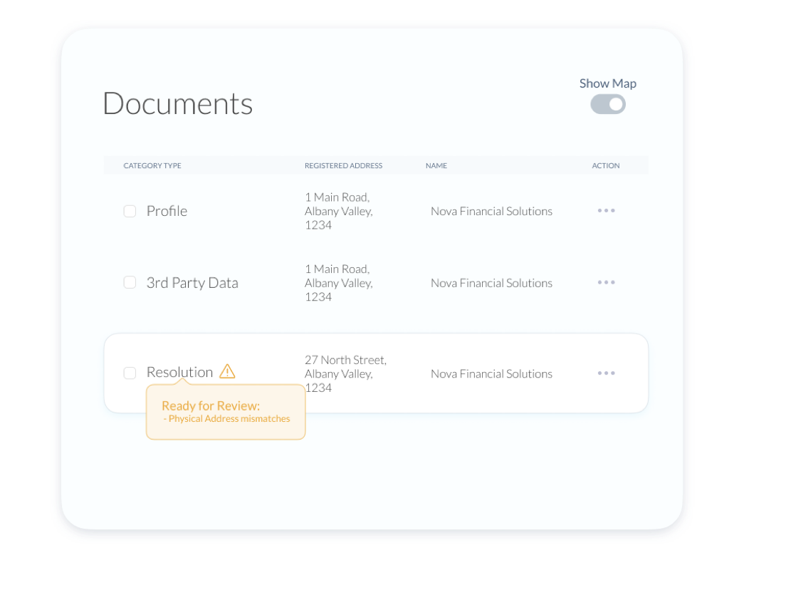 Documents are compared and analysed by DocFox